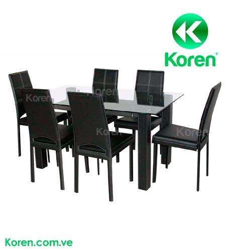 Comedor espa a 6 sillas koren for Sillas comedor sevilla